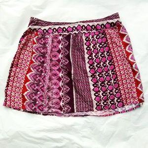 Charlotte Russe Graphic Print Skirt